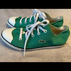 Lacoste Green Canvas Sneakers